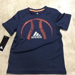 boys youth size 5 rrefoil baseball 3 stripe adidas t- shirt