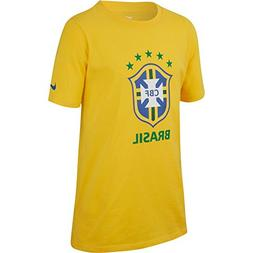 NIKE Brasil 2018 Youth Crest T-Shirt Yellow YS