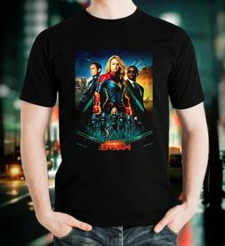 Captain Marvel T Shirt American Action Movie 2019 Men Black