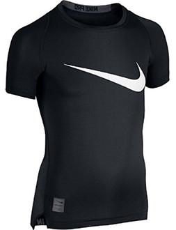 NIKE Kids Boy's Cool HBR Compression S/S Youth  Black/Anthra