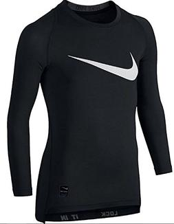 NIKE Kids Boy's Cool HBR Comp Long Sleeve  Black/Anthracite/