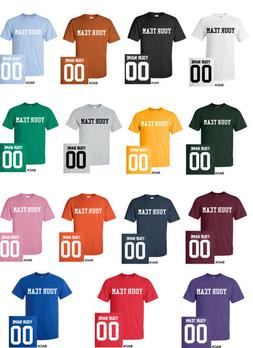 CUSTOM YOUTH T-Shirt JERSEY Personalized COLORS Name Number