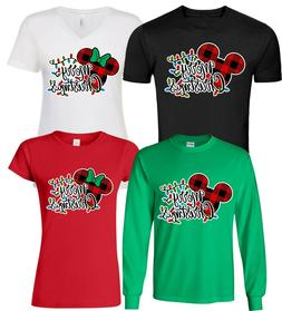 DISNEY FAMILY MERRY Christmas Vacation T-Shirts, Minnie,Mick