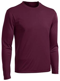 DRI-Equip Long Sleeve Moisture Wicking Athletic Shirt-4X-Lar