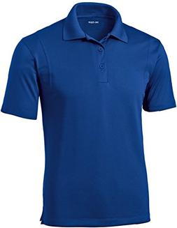 DRI-Equip Mens Moisture Wicking Micropique Golf Polo-True Ro