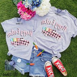 Easter Shirt-Happy Easter Truck Adult and Youth TShirts-East