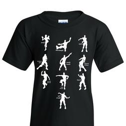 Emote Dances - Funny Gaming Parody Video Game Youth T Shirt