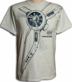 F4U Corsair WW2 WWII Airplane T-shirt with HUGE print -- You