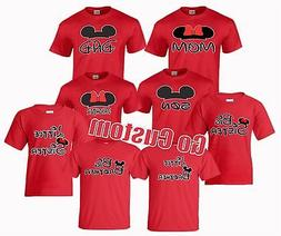 Family Matching Disney T-Shirts Mom, Dad, Little / Big Broth