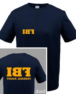 FBI T-SHIRT -  youth and adult uo to 5x  in  7 Colors -