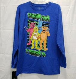 FIVE NIGHTS at FREDDY's NEW! Blue Long Sleeve T-Shirt Boys Y
