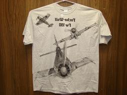 Focke-Wulf Fw190 WW2 Airplane T-shirt w/ HUGE print on front