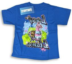FORTNITE Loot Llama Youth Blue T-Shirt by EPIC Games Size Sm