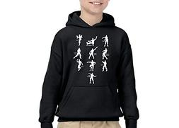 fresh tees Youth Hoodie Funny Emote Dances