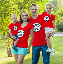 Halloween Dr.Seuss Matching Things T-Shirts For Families, Fr