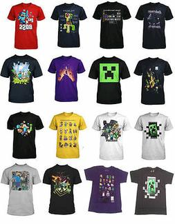Minecraft Funny Survival Mode Creepers Soft Boys T Shirt Kid