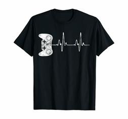 Gamer Heartbeat T-Shirt Video Game Lover Funny Cute Gift  T-
