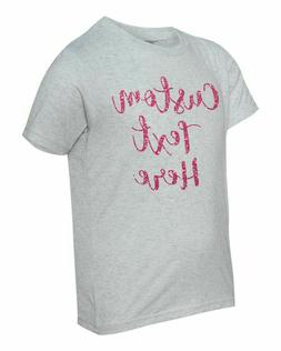 Glitter Personalized Custom Text Next Level Apparel  Youth T