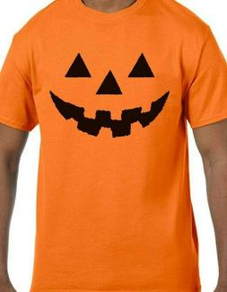 Halloween Pumpkin Face T-shirt Jack O Lantern Adult/Youth