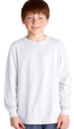 Gildan Boys 5.3 oz. Heavy Cotton Long-Sleeve T-Shirt G540B -