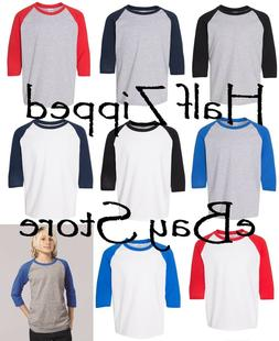 Gildan Heavy Cotton YOUTH Raglan Tee Baseball T-Shirt 5700B