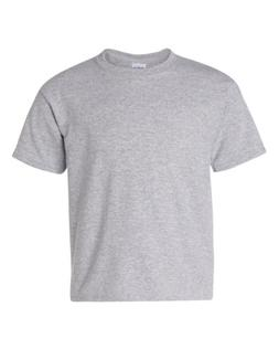 Gildan Heavy Cotton Youth 5.3 oz. T-Shirt, Large, SPORT GREY