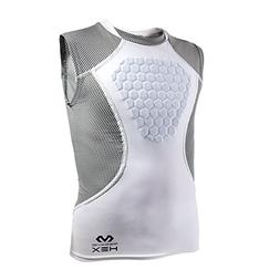 McDavid Hex Sternum Shirt, Youth Small, White/Gray