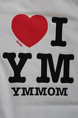 I love mommy funny t-shirt tee new boy girl graphic novelty