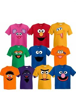 Inspired Sesame Street face Characters Birthday Matching Fam