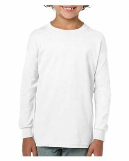 Gildan Kids' Big Ultra Cotton Youth Long Sleeve T-Shirt, 2-P