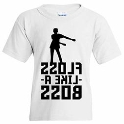 Kids Floss Like A Boss - Flossin Dance Funny Emote Youth T S