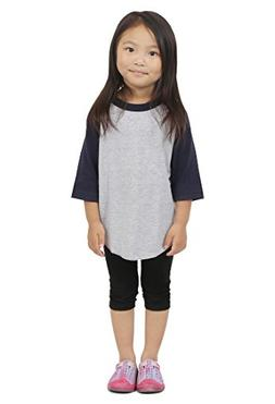 Hat and Beyond Kids Raglan 3/4 Sleeves Baseball T Shirts Bab
