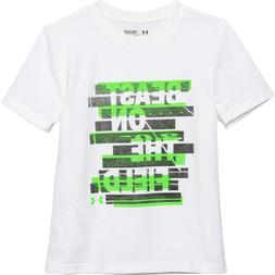 Under Armour Kids Short Sleeved T Shirt, White, Youth Size X