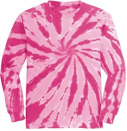 Koloa Surf Co. Colorful Long Sleeve Tie-Dye T-Shirt,4XL-Pink