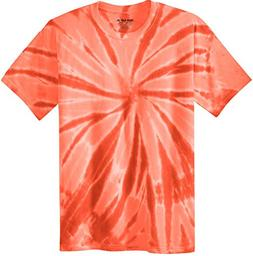 Joe's USA Koloa Surf  Youth Colorful Tie-Dye T-Shirt,L-Orang