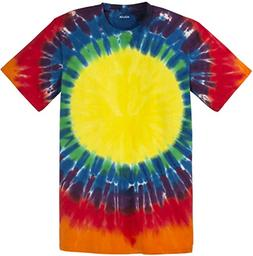Joe's USA Koloa Surf Youth Window Pattern Tie-Dye T-Shirt-Ra