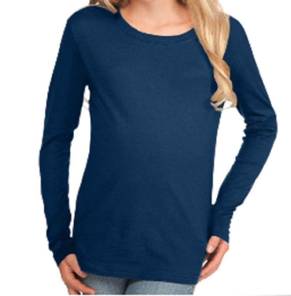 100 percent cotton fine jersey long sleeve