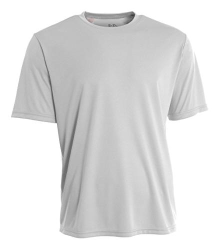 A4 Youth Cooling Performance Crew Short Sleeve T-Shirt, Silv