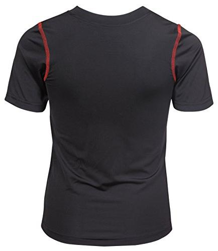 'Black Performance Dry-Fit and Red, Small