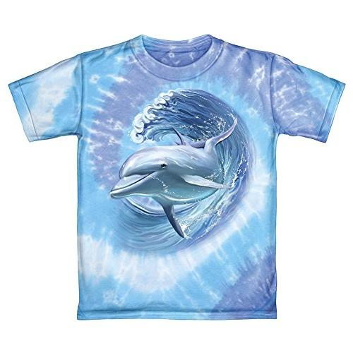 Dawhud Direct Dolphins Surfing Youth Tee Shirt
