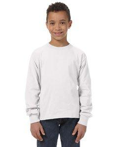 Fruit of the Loom Youth Crewneck Long-Sleeve T-Shirt_White_M