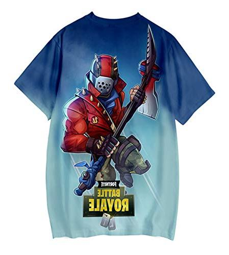 Game Fornite 3D Shirt Men Battle Streetwear Casual Cool Tshirt Tops Size 6 Youth