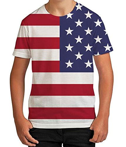 Kids Graphic T Shirt Boys Top American Flag Youth Tee Shirt