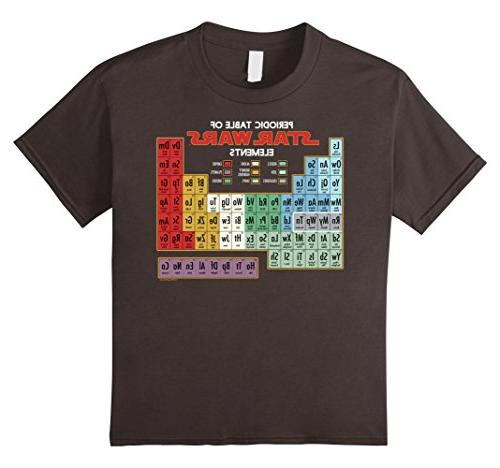 Kids Star Wars Periodic Table of Elements Graphic T-Shirt 12