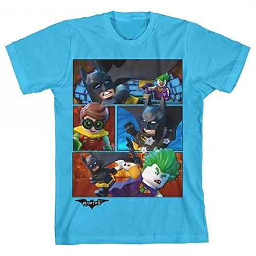 Lego Batman Group Turquoise Boys Youth T-Shirt