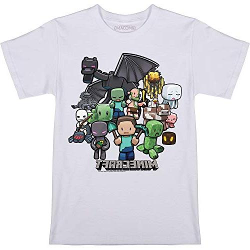 Minecraft Party T-shirt, Youth Large