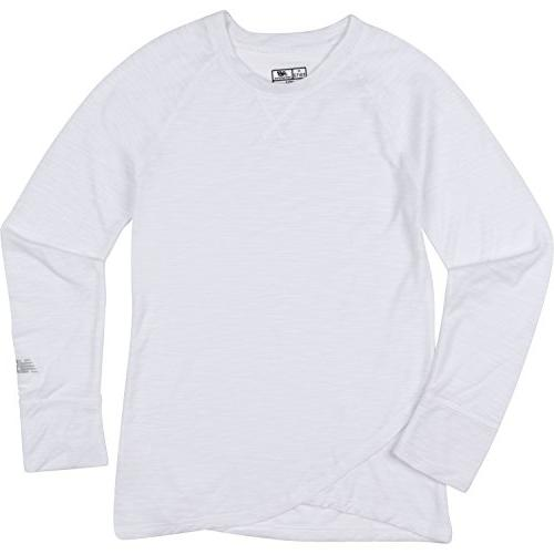 New Balance Big Girls' Thats A Wrap Long Sleeve Shirts, Whit