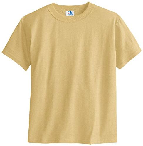 Russell Big Boys' Youth NuBlend T-Shirt, Georgia Gold, Large