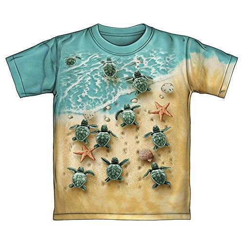 Turtles On The Beach Tie-Dye Youth Tee Shirt