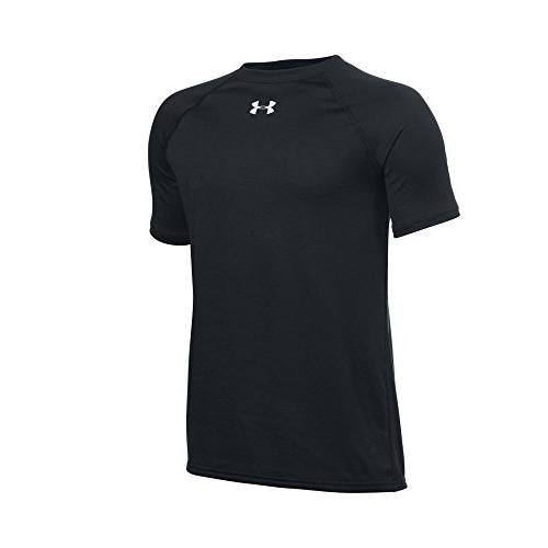 Under Armour Boys' Locker Short Sleeve T-Shirt, Black /White